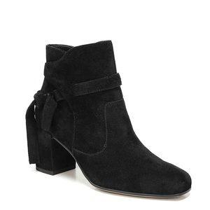 NWOT - Franco Sarto Black Suede Ankle Boots
